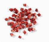 Fraises hachées séchées — Photo de stock