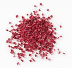 Dried chopped raspberries — Stock Photo