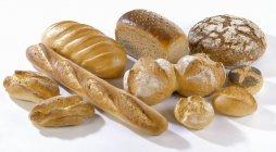 Frisch gebackenes Brot und Brötchen — Stockfoto
