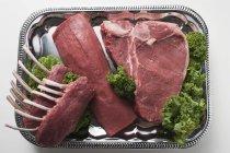 Varios tipos de carne - foto de stock