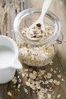 Muesli in conservazione del vaso — Foto stock