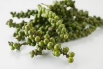 Bunches of fresh green peppercorns — Stock Photo
