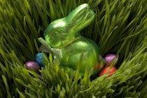 Dulces de Pascua en la hierba - foto de stock