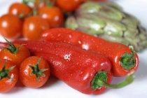 Свіжий перець і помідори — стокове фото