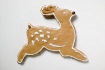 Christmas biscuit in shape of reindeer — Stock Photo