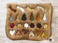 Gingerbread with Christmas symbols — Stock Photo