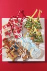 Various Christmas biscuits — Stock Photo