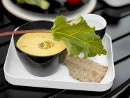Broccoli cream soup in bowl — Stock Photo