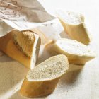 Partly sliced Baguette — Stock Photo