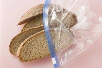 Quattro fette di pane — Foto stock