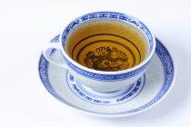 Taza de té de frutas evodia - foto de stock