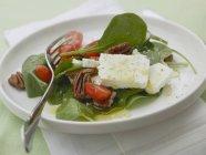 Салат зі шпинату з Горіхи пекан — стокове фото
