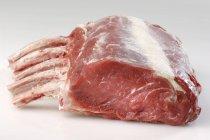 Rib of fresh raw beef with bones — Stock Photo