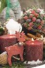 Christmas festive decorations — Stock Photo