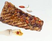 Costine di maiale alla griglia — Foto stock