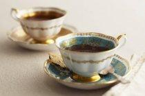 Tazas de té inglés elegante - foto de stock