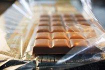 Nut milk chocolate — Stock Photo