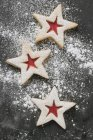 Biscuits with icing sugar — Stock Photo