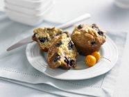 Due muffin mirtillo — Foto stock