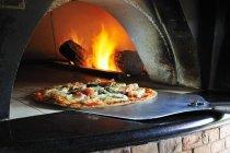Pizza fruits de mer au four — Photo de stock