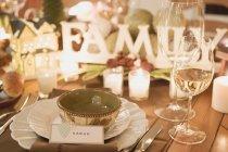 Christmas setting table — Stock Photo
