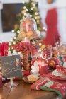 Tableau de réglage de Noël — Photo de stock