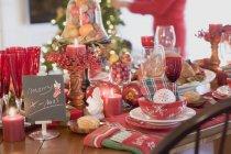 Tabella della regolazione di Natale — Foto stock