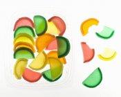 Gelatina surtida Fruta - foto de stock