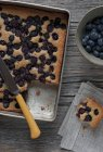 Quadratische Blaubeerkuchen — Stockfoto