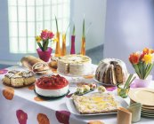 Easter cake buffet — Stock Photo