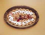 Ассорти рождественское печенье — стоковое фото