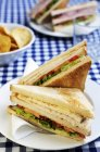Club sandwich con pollo — Foto stock