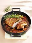 Roast veal with rosemary — Stock Photo