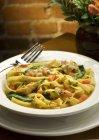 Fettuccini pasta with Chicken — Stock Photo