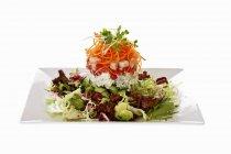 Salad tower with avocado — Stock Photo