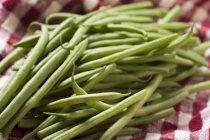 Judías verdes frescas - foto de stock
