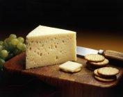 Baby Swiss Cheese Wedge — Stock Photo