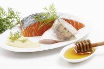 Ingredienti per lo strudel di pesce — Foto stock