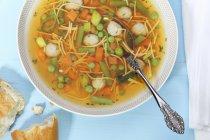 Tigela de sopa de legumes — Fotografia de Stock