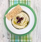Hummus with Olive Oil — Stock Photo