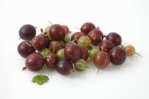 Fresh green and red Gooseberries — Stock Photo