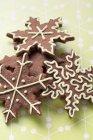 Biscotti a forma di stella di Natale — Foto stock