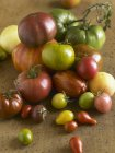 Vari pomodori di heirloom — Foto stock