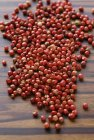Heap of dried red peppercorns — Stock Photo
