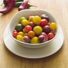 Colorful Heirloom Cherry Tomatoes — Stock Photo