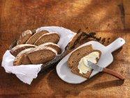 Pane di segale affettato — Foto stock
