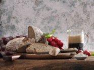Ржаной хлеб с пивом — стоковое фото