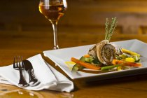 Rolled veal escalope — Stock Photo