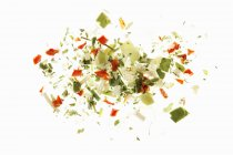 Soup vegetables, freeze dried  on white surface — Stock Photo