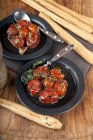 Confit tomatoes in olive oil — Stock Photo